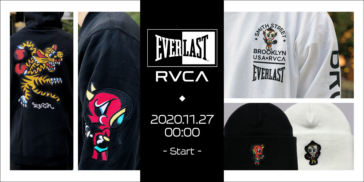 RVCA×EVERLAST コラボアパレル